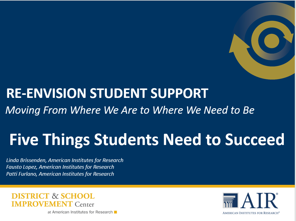 5 Things Students Need to Succeed - Title Slide